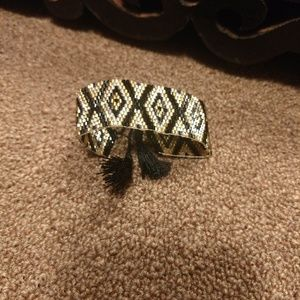 NWOT Geometric Handmade Beaded Boho Bracelet